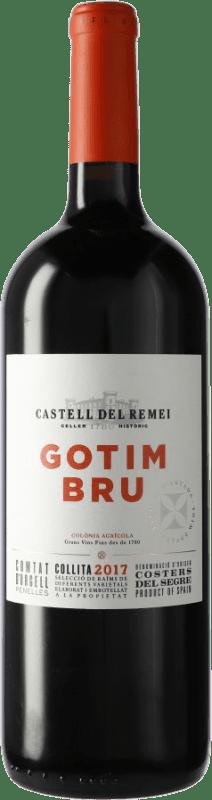 17,95 € Envío gratis | Vino tinto Castell del Remei Gotim Bru D.O. Costers del Segre España Tempranillo, Merlot, Garnacha, Cabernet Sauvignon Botella Mágnum 1,5 L