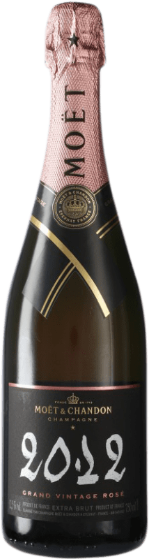 75,95 € Free Shipping | Rosé sparkling Moët & Chandon Grand Vintage Rosé A.O.C. Champagne Champagne France Bottle 75 cl