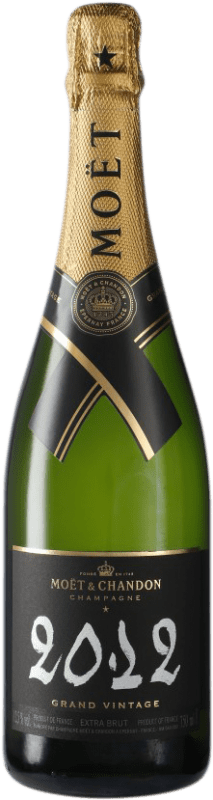 61,95 € Free Shipping | White sparkling Moët & Chandon Grand Vintage A.O.C. Champagne Champagne France Pinot Black, Chardonnay, Pinot Meunier Bottle 75 cl