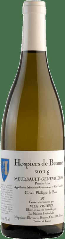 213,95 € Free Shipping | White wine Louis Jadot Hospices de Beaune 1er Cru Genevrières Cuvée Philippe Le Bon A.O.C. Meursault Burgundy France Chardonnay Bottle 75 cl
