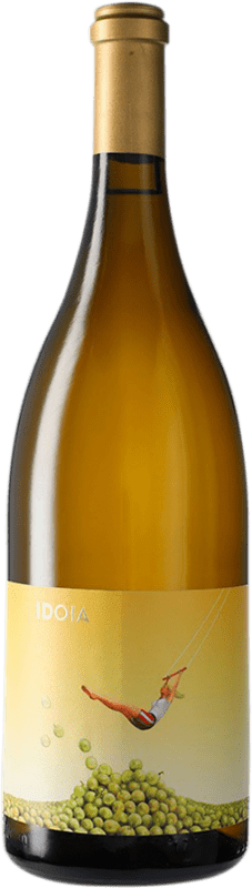 19,95 € Envío gratis | Vino blanco Ca N'Estruc Idoia Blanc D.O. Catalunya Cataluña España Garnacha Blanca, Macabeo, Xarel·lo, Chardonnay Botella Mágnum 1,5 L