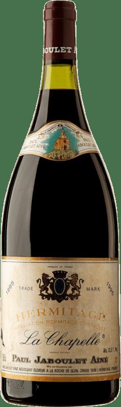 499,95 € Envío gratis | Vino tinto Jaboulet Aîné La Chapelle 1995 A.O.C. Hermitage Francia Syrah Botella Mágnum 1,5 L