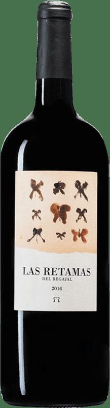21,95 € Free Shipping | Red wine El Regajal Las Retamas D.O. Vinos de Madrid Madrid's community Spain Tempranillo, Merlot, Syrah, Cabernet Sauvignon Magnum Bottle 1,5 L