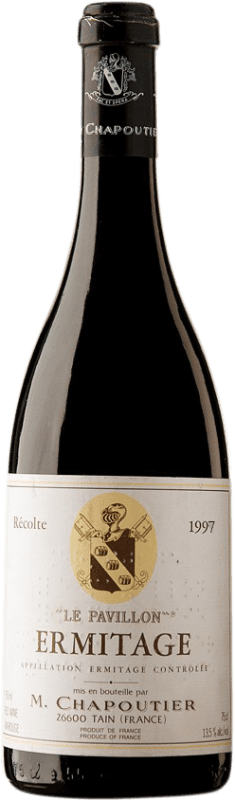 265,95 € Free Shipping | Red wine Chapoutier Le Pavillon 1997 A.O.C. Hermitage France Syrah Bottle 75 cl
