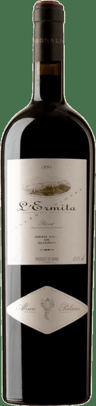 2 122,95 € Envío gratis | Vino tinto Álvaro Palacios L'Ermita 1998 D.O.Ca. Priorat Cataluña España Garnacha, Cabernet Sauvignon Botella Mágnum 1,5 L