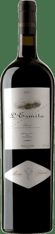 4 245,95 € Envío gratis | Vino tinto Álvaro Palacios L'Ermita 2002 D.O.Ca. Priorat Cataluña España Garnacha, Cabernet Sauvignon Botella Jéroboam-Doble Mágnum 3 L