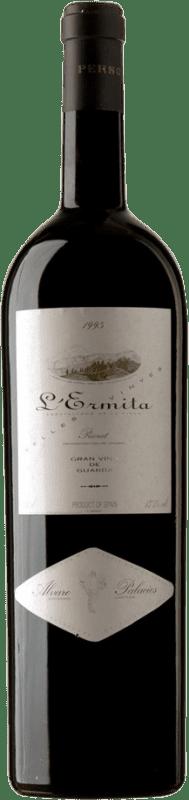 7 047,95 € Kostenloser Versand | Rotwein Álvaro Palacios L'Ermita 1995 D.O.Ca. Priorat Katalonien Spanien Grenache, Cabernet Sauvignon Spezielle Flasche 5 L