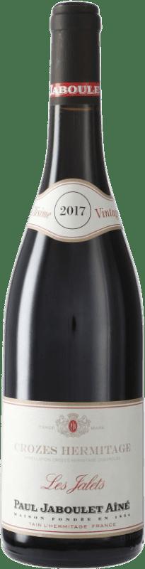 18,95 € Envío gratis | Vino tinto Jaboulet Aîné Les Jalets A.O.C. Crozes-Hermitage Francia Syrah Botella 75 cl