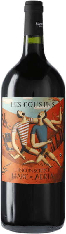 19,95 € Envío gratis | Vino tinto Les Cousins L'Inconscient D.O.Ca. Priorat Cataluña España Garnacha, Cabernet Sauvignon, Cariñena Botella Mágnum 1,5 L