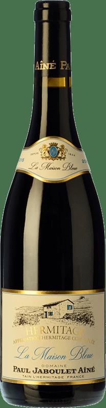 65,95 € Envío gratis | Vino tinto Jaboulet Aîné Maison Bleue A.O.C. Hermitage Francia Syrah Botella 75 cl