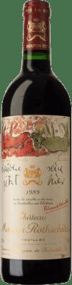 771,95 € Free Shipping | Red wine Château Mouton-Rothschild 1989 A.O.C. Pauillac Bordeaux France Merlot, Cabernet Sauvignon, Cabernet Franc Bottle 75 cl