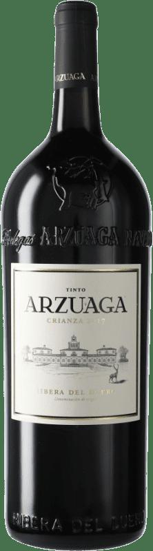47,95 € Kostenloser Versand | Rotwein Arzuaga Crianza D.O. Ribera del Duero Kastilien und León Spanien Magnum-Flasche 1,5 L