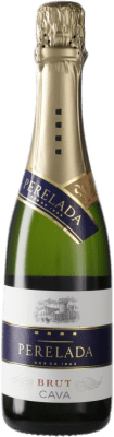 4,95 € Envío gratis | Espumoso blanco Perelada Brut D.O. Cava España Macabeo, Xarel·lo, Parellada Media Botella 37 cl