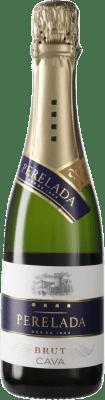 4,95 € Free Shipping | White sparkling Perelada Brut D.O. Cava Spain Macabeo, Xarel·lo, Parellada Half Bottle 37 cl