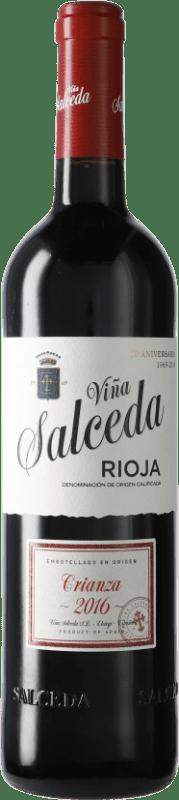 7,95 € Envío gratis   Vino tinto Viña Salceda Crianza D.O.Ca. Rioja España Tempranillo, Graciano, Mazuelo Botella 75 cl