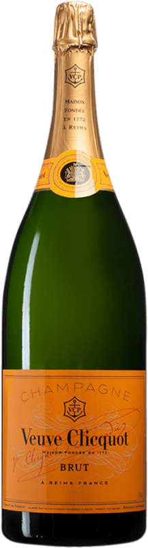 345,95 € Free Shipping | White sparkling Veuve Clicquot Brut A.O.C. Champagne Champagne France Pinot Black, Chardonnay, Pinot Meunier Jéroboam Bottle-Double Magnum 3 L