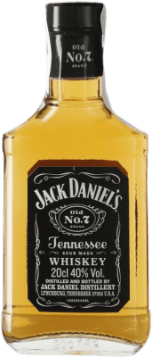 9,95 € Envío gratis | Bourbon Jack Daniel's Tennessee Estados Unidos Botellín 20 cl