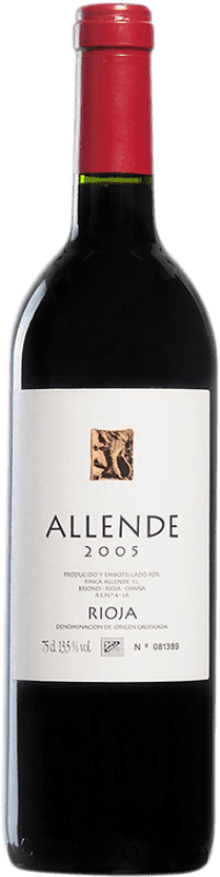 54,95 € Envío gratis | Vino tinto Allende 2005 D.O.Ca. Rioja España Tempranillo Botella 75 cl
