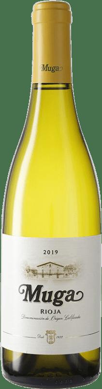 9,95 € Envío gratis | Vino blanco Muga D.O.Ca. Rioja España Viura, Malvasía, Garnacha Blanca Botella 75 cl