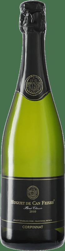 11,95 € Envío gratis | Espumoso blanco Huguet de Can Feixes Brut Corpinnat España Pinot Negro, Macabeo, Parellada Botella 75 cl