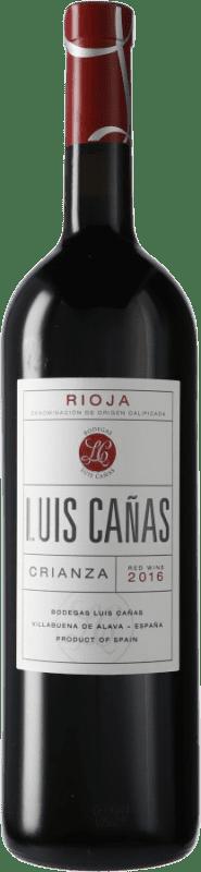 19,95 € Free Shipping | Red wine Luis Cañas Crianza D.O.Ca. Rioja Spain Tempranillo, Graciano Magnum Bottle 1,5 L