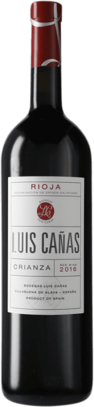 19,95 € Envoi gratuit | Vin rouge Luis Cañas Crianza D.O.Ca. Rioja Espagne Tempranillo, Graciano Bouteille Magnum 1,5 L