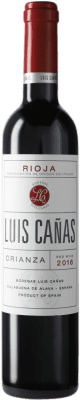 7,95 € Free Shipping | Red wine Luis Cañas Crianza D.O.Ca. Rioja Spain Tempranillo, Graciano Medium Bottle 50 cl