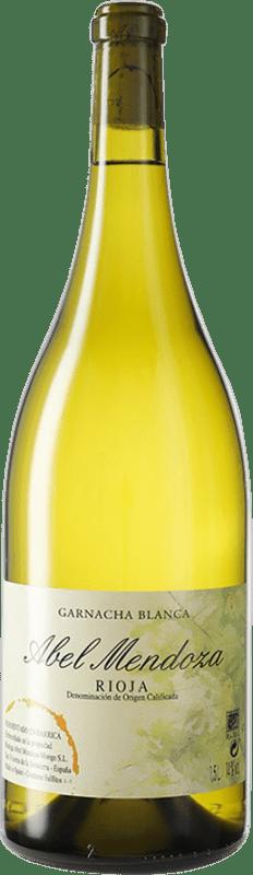 51,95 € Kostenloser Versand | Weißwein Abel Mendoza D.O.Ca. Rioja Spanien Grenache Weiß Magnum-Flasche 1,5 L