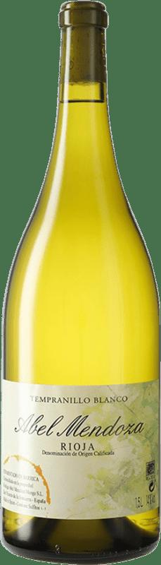 51,95 € Free Shipping | White wine Abel Mendoza D.O.Ca. Rioja Spain Tempranillo White Magnum Bottle 1,5 L