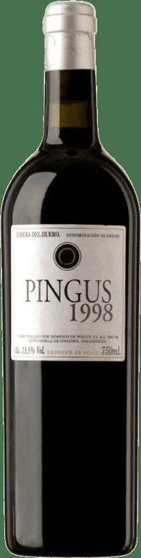 1 305,95 € Envío gratis | Vino tinto Dominio de Pingus 1998 D.O. Ribera del Duero Castilla y León España Tempranillo Botella 75 cl