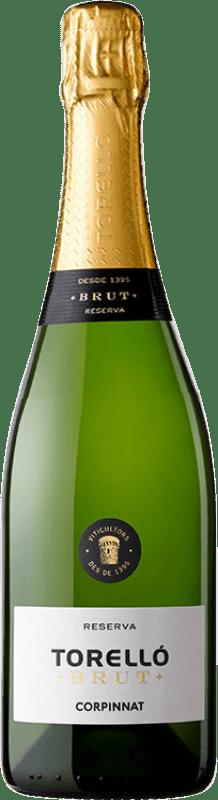 11,95 € Free Shipping | White sparkling Torelló Brut Reserva Corpinnat Spain Macabeo, Xarel·lo, Parellada Bottle 75 cl