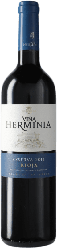 9,95 € Free Shipping | Red wine Viña Herminia Reserva D.O.Ca. Rioja Spain Tempranillo, Grenache, Graciano Bottle 75 cl