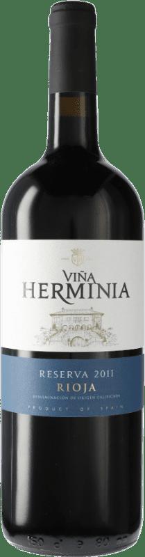 16,95 € Envoi gratuit | Vin rouge Viña Herminia Reserva D.O.Ca. Rioja Espagne Tempranillo, Grenache, Graciano Bouteille Magnum 1,5 L