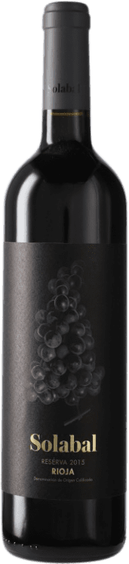12,95 € Free Shipping | Red wine Solabal Reserva D.O.Ca. Rioja Spain Bottle 75 cl