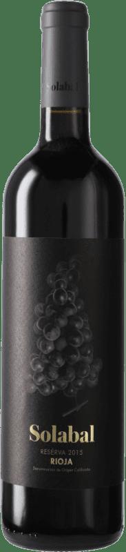 12,95 € Envoi gratuit   Vin rouge Solabal Reserva D.O.Ca. Rioja Espagne Bouteille 75 cl