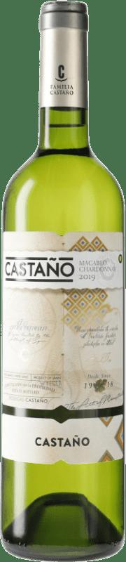 5,95 € Envío gratis | Vino blanco Castaño D.O. Yecla España Botella 75 cl