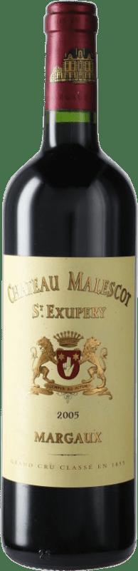 179,95 € Free Shipping   Red wine Château Malescot Saint-Exupéry 2005 A.O.C. Margaux Bordeaux France Merlot, Cabernet Sauvignon, Cabernet Franc, Petit Verdot Bottle 75 cl