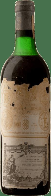 199,95 € Envoi gratuit   Vin rouge Marqués de Riscal Reserva 1960 D.O.Ca. Rioja Espagne Tempranillo, Graciano, Mazuelo Bouteille 75 cl