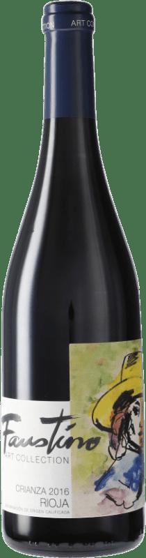 4,95 € Free Shipping | Red wine Faustino Crianza D.O.Ca. Rioja Spain Tempranillo Bottle 75 cl