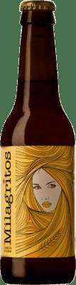 3,95 € Envío gratis | Cerveza Dominio del Águila Milagritos España Botellín Tercio 33 cl