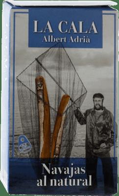 13,95 € Envío gratis | Conservas de Marisco La Cala Navajas al Natural España 6/8 Piezas