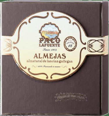 157,95 € Envío gratis | Conservas de Marisco Conservera Gallega Paco Lafuente Almejas Gigantes al Natural Galicia España 18 Piezas