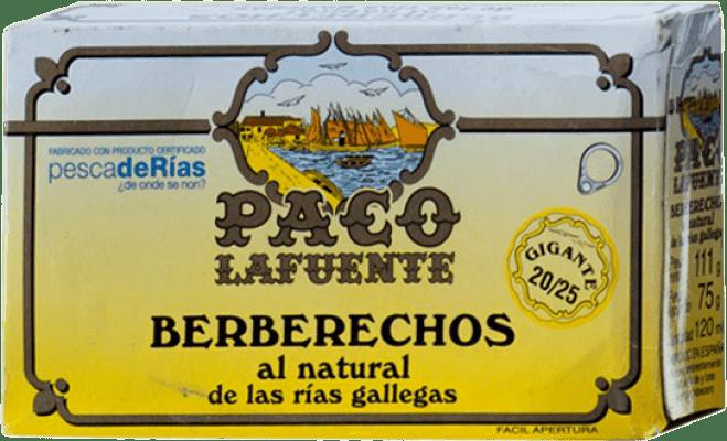 19,95 € Envío gratis | Conservas de Marisco Conservera Gallega Paco Lafuente Berberechos al Natural Galicia España 20/25 Piezas