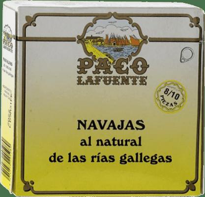 10,95 € Free Shipping | Conservas de Marisco Conservera Gallega Paco Lafuente Navajas Galicia Spain 8/10 Pieces