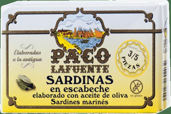 2,95 € Kostenloser Versand | Conservas de Pescado Conservera Gallega Paco Lafuente Sardina en Escabeche Galizien Spanien 3/5 Stücke