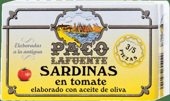 2,95 € Kostenloser Versand | Conservas de Pescado Conservera Gallega Paco Lafuente Sardina en Tomate Galizien Spanien 3/5 Stücke