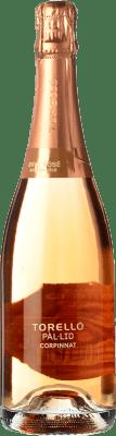 14,95 € Envío gratis | Espumoso rosado Torelló Pàl·lid Rosé Brut Corpinnat España Pinot Negro Botella 75 cl