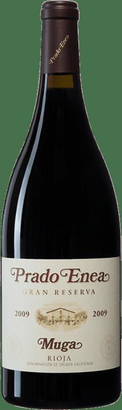 96,95 € Envío gratis | Vino tinto Muga Prado Enea Gran Reserva 2009 D.O.Ca. Rioja España Tempranillo, Garnacha, Graciano, Mazuelo Botella Mágnum 1,5 L