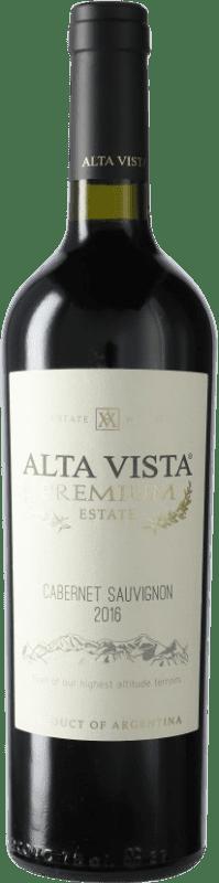 12,95 € Envío gratis | Vino tinto Altavista Premium I.G. Mendoza Mendoza Argentina Cabernet Sauvignon Botella 75 cl