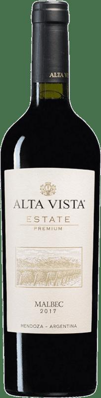 12,95 € Envío gratis | Vino tinto Altavista Premium I.G. Mendoza Mendoza Argentina Malbec Botella 75 cl